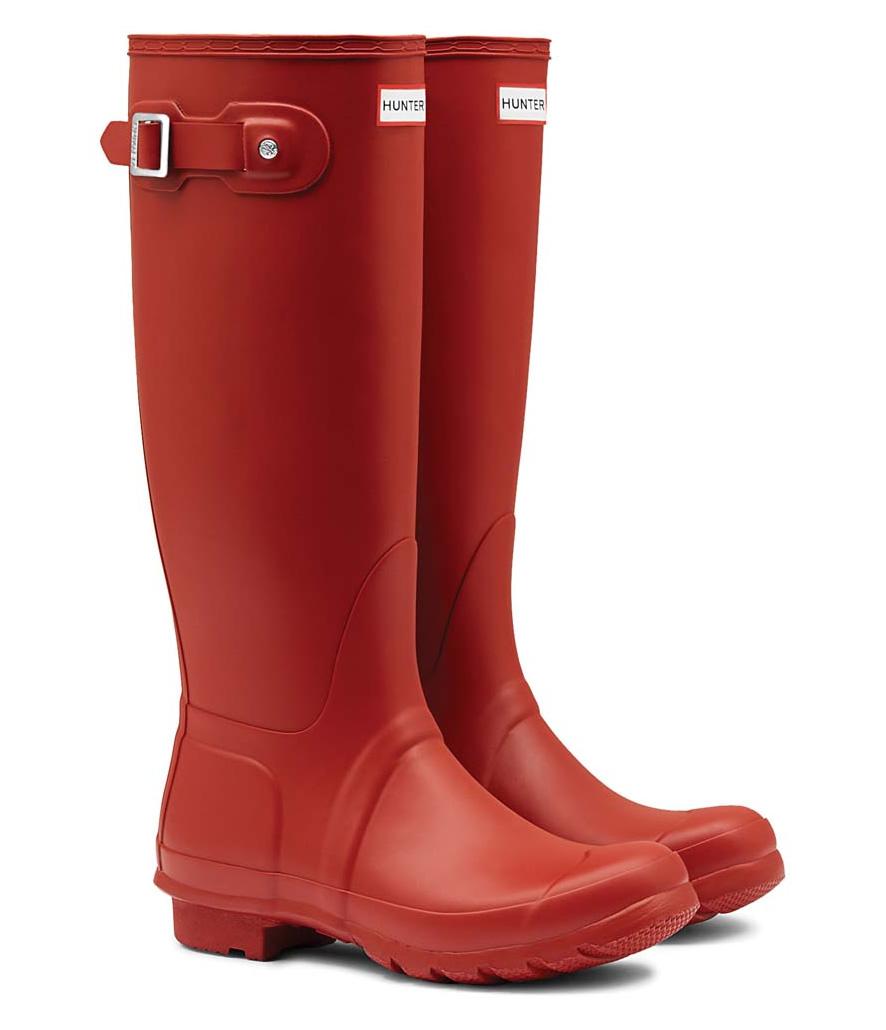 Botas de lluvia altas Hunter original rojas