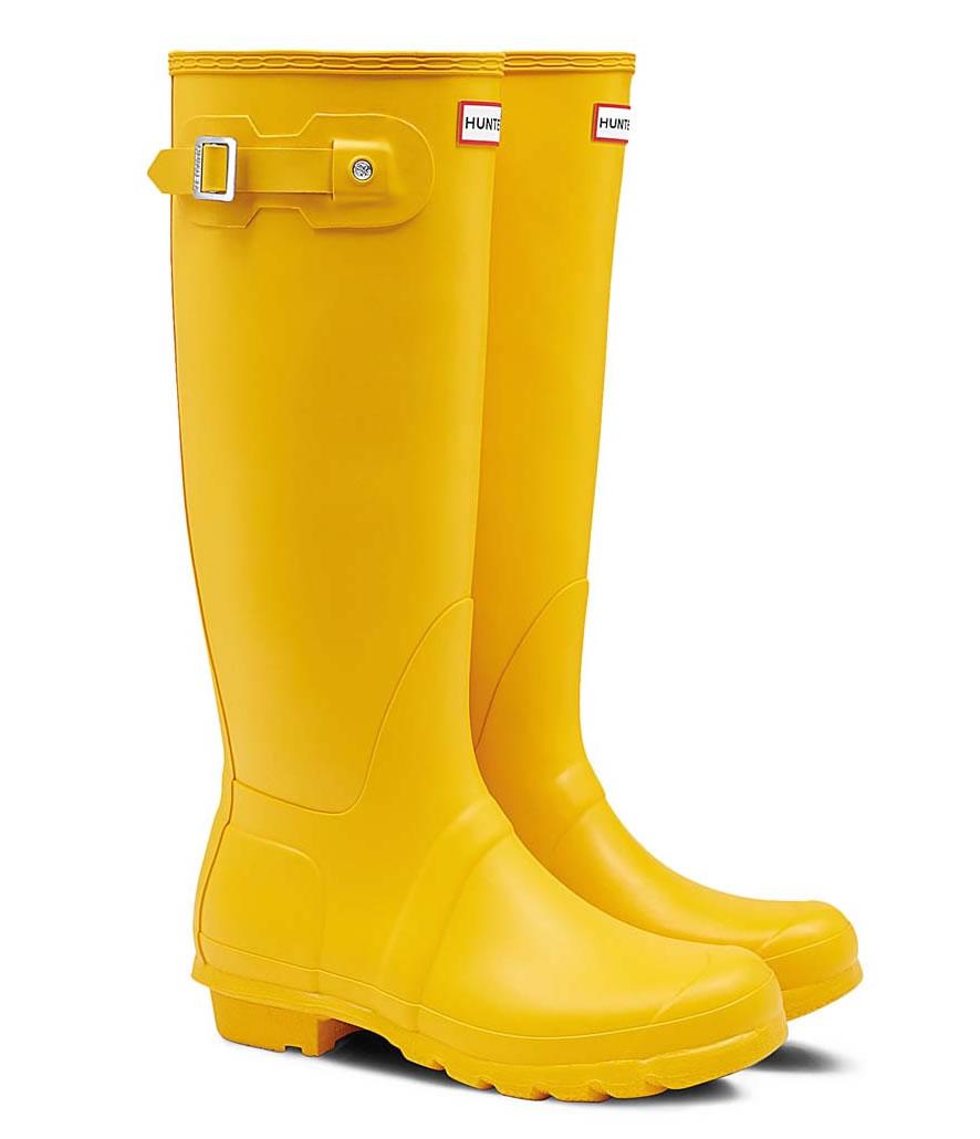Botas de lluvia altas Hunter original amarillas - Vimoda Toledo 9db49bf54ff