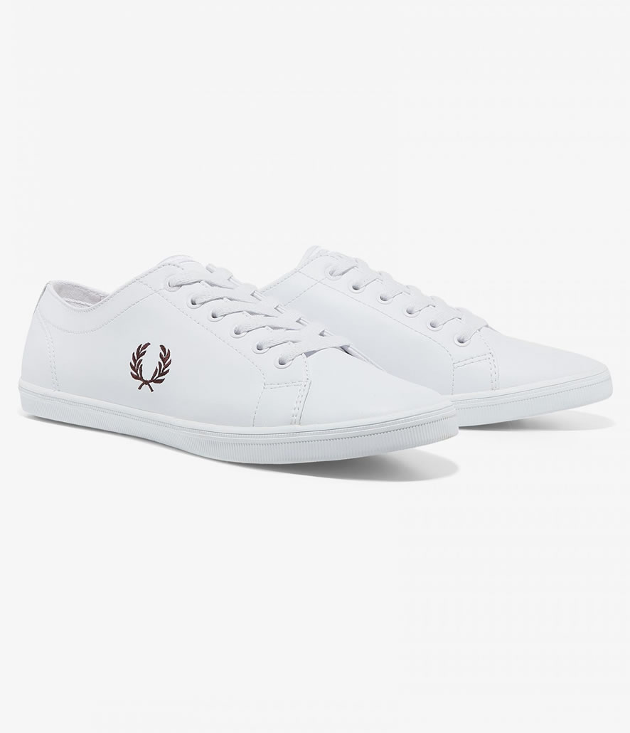 Zapatillas Fred Perry de piel Kingston blancas