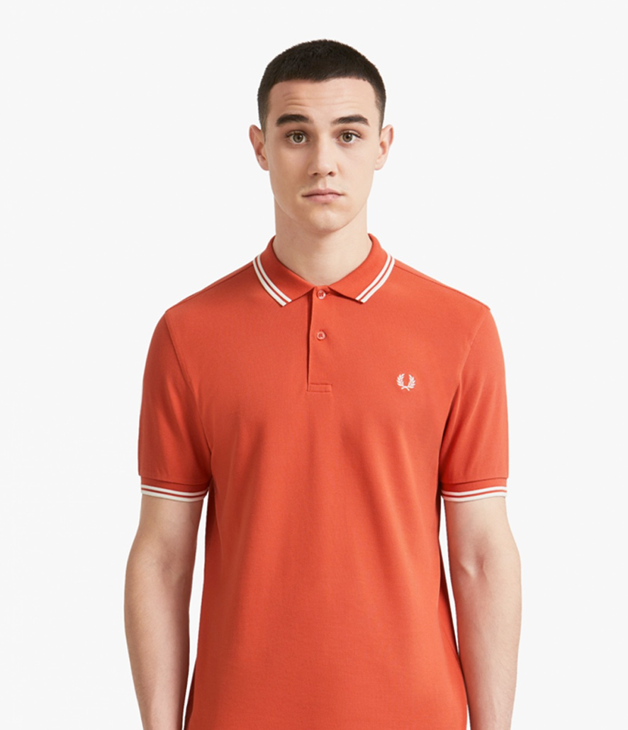 Polo Fred Perry naranja coral M3600