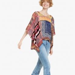 Camisa Desigual con mezcla de prints Liberia