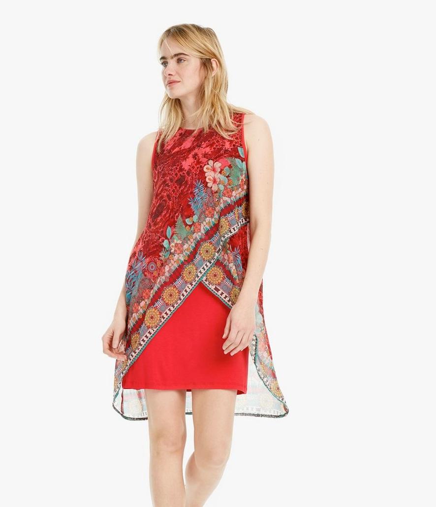 Vestido Desigual Floral Multicapas Monique