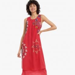 Vestido Desigual rojo midi Sacha
