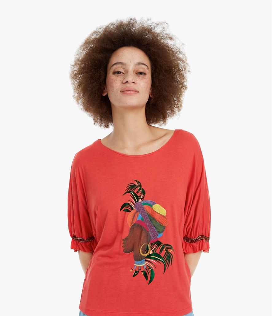 Camiseta Desigual cara africana Kahua