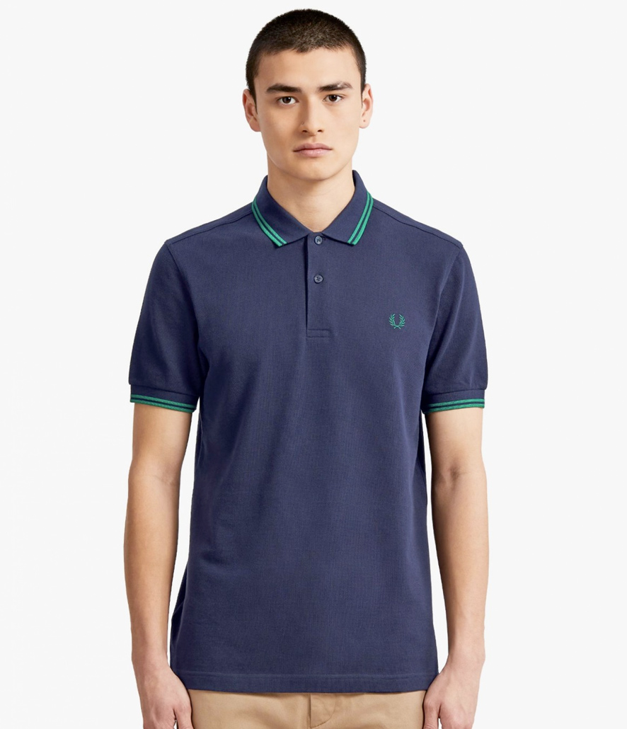 Polo Fred Perry azul carbono M3600