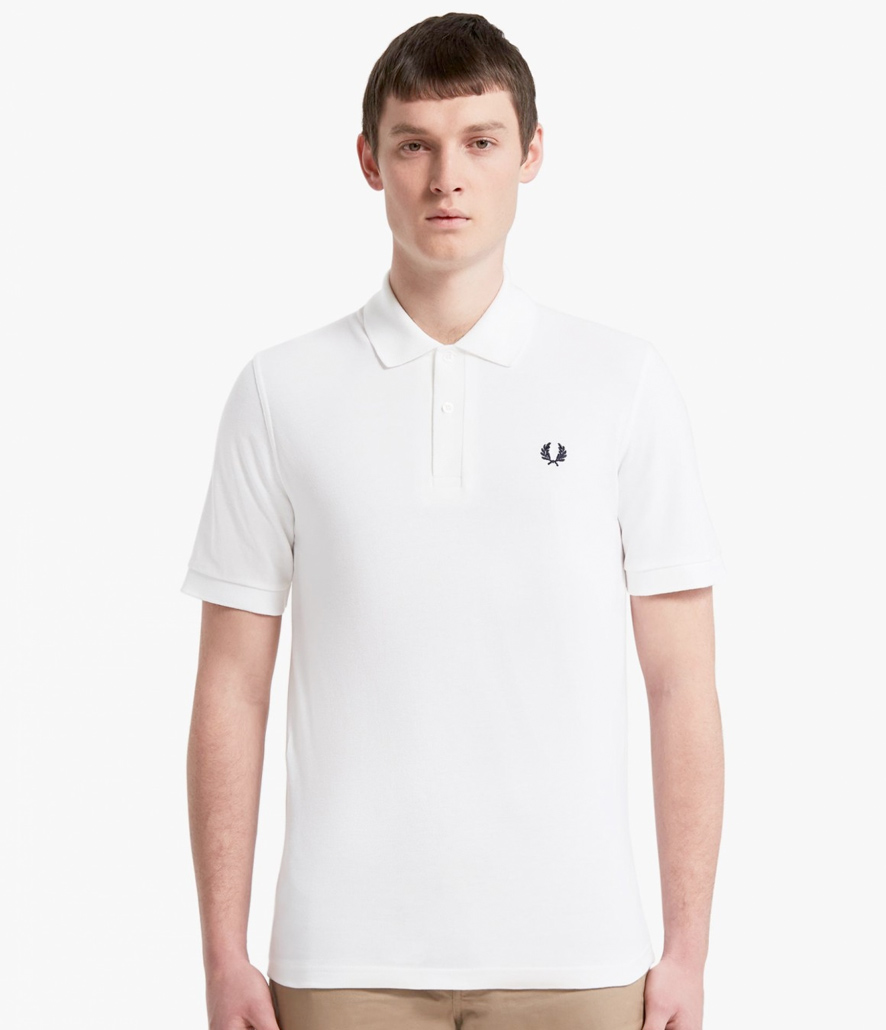Polo Fred Perry blanco M3600