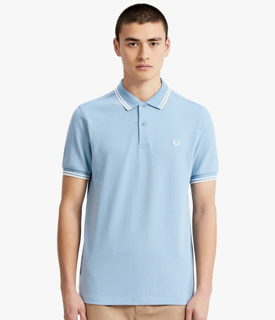Polo Fred Perry azul celeste M3600