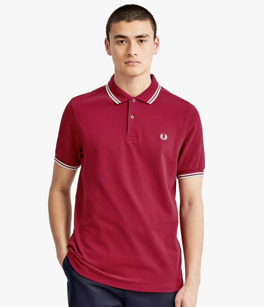 Polo Fred Perry granate M3600