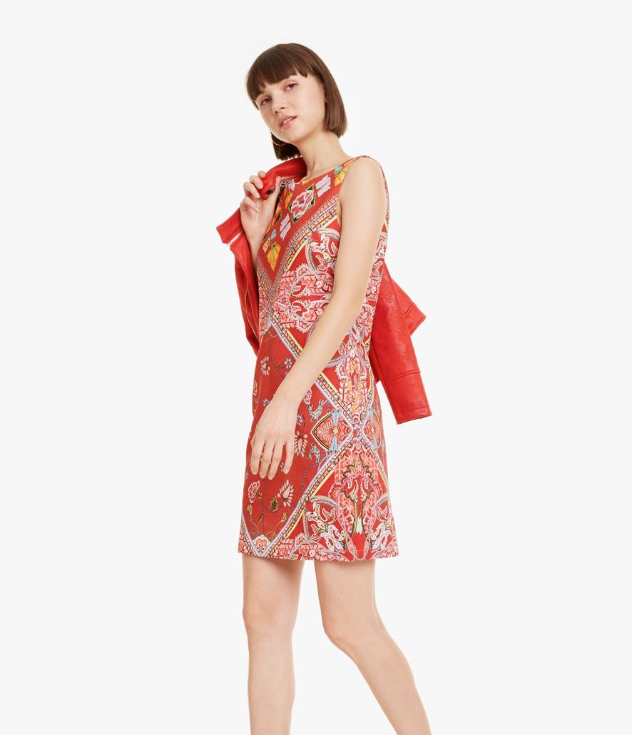 Vestido Desigual rojo foulard Lisa