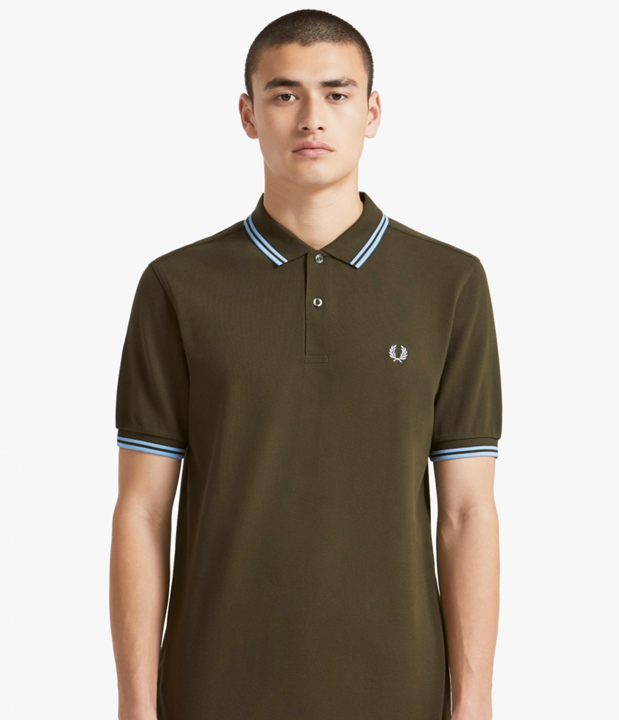 Polo Fred Perry verdoso oscuro M3600