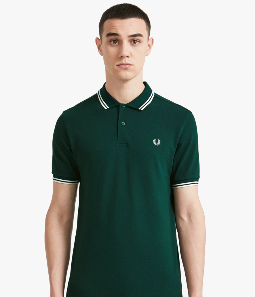 Polo Fred Perry verde oscuro M3600