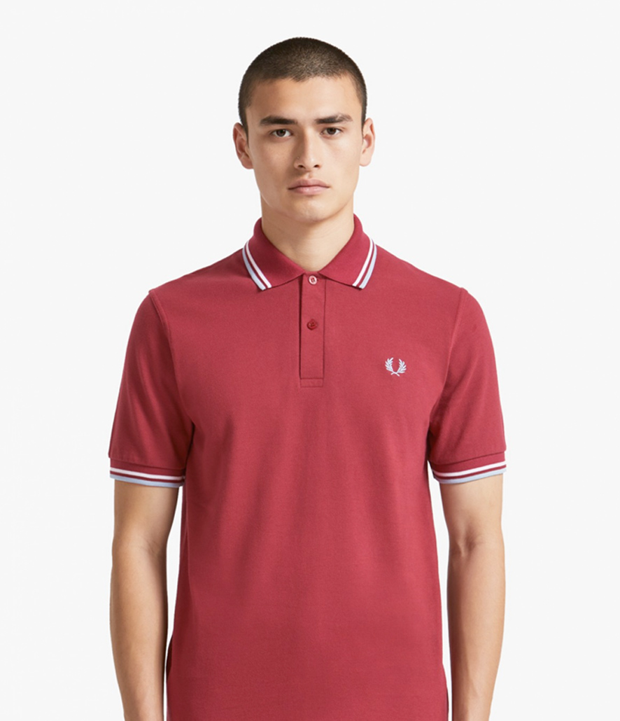 Polo Fred Perry granate M12