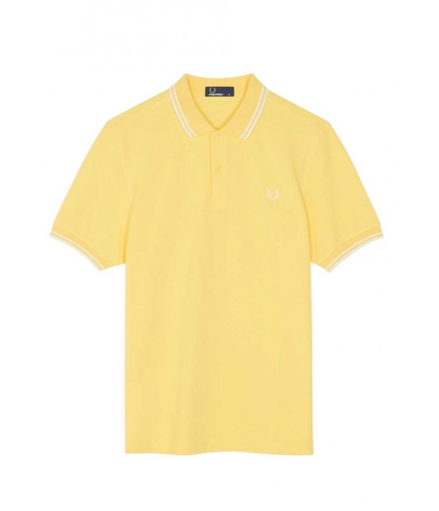 Polo Fred Perry amarillo de manga corta