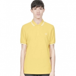 Polo Fred Perry amarillo de manga corta