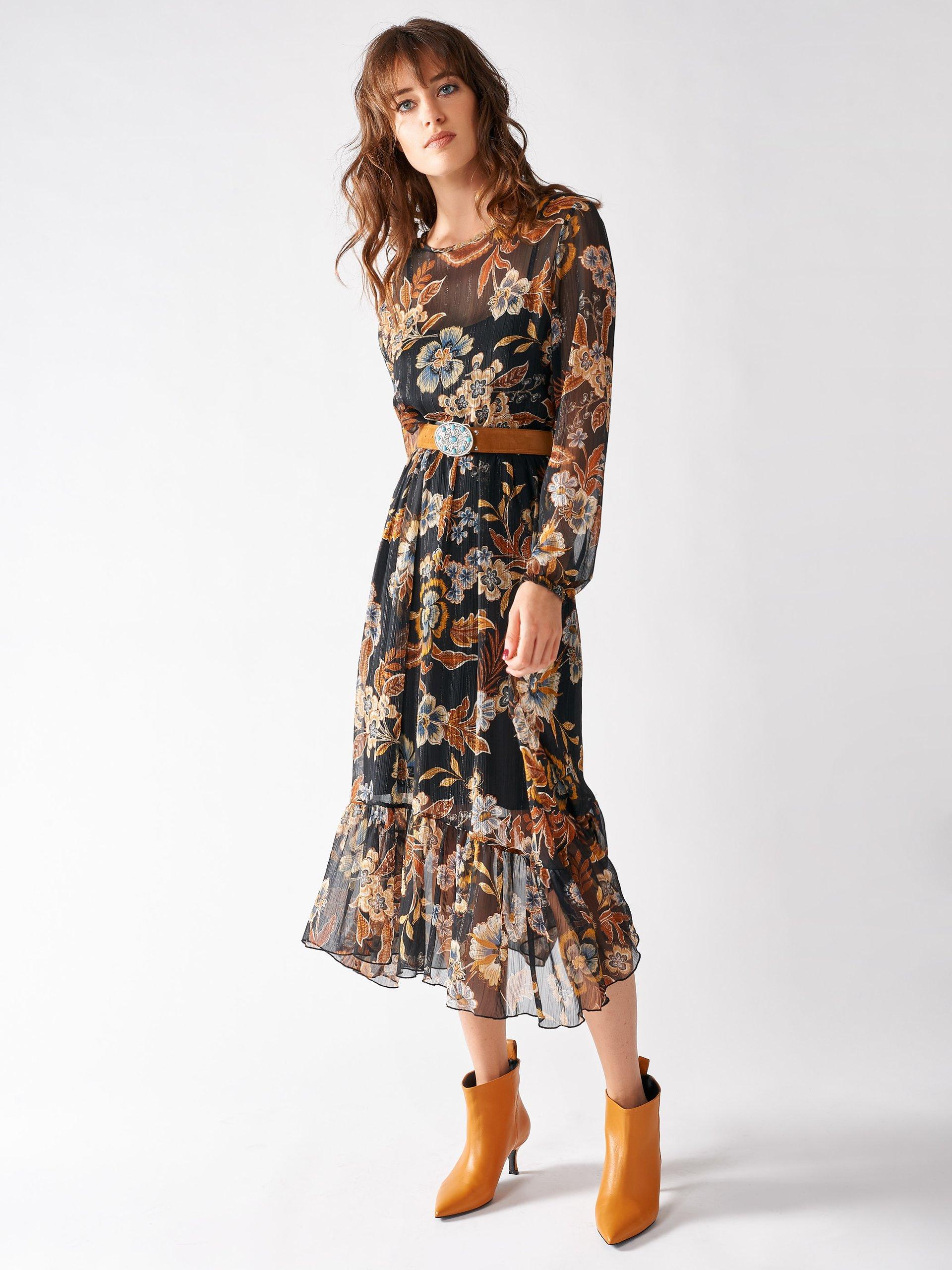 Vestido Rinascimento Estampado Años 70