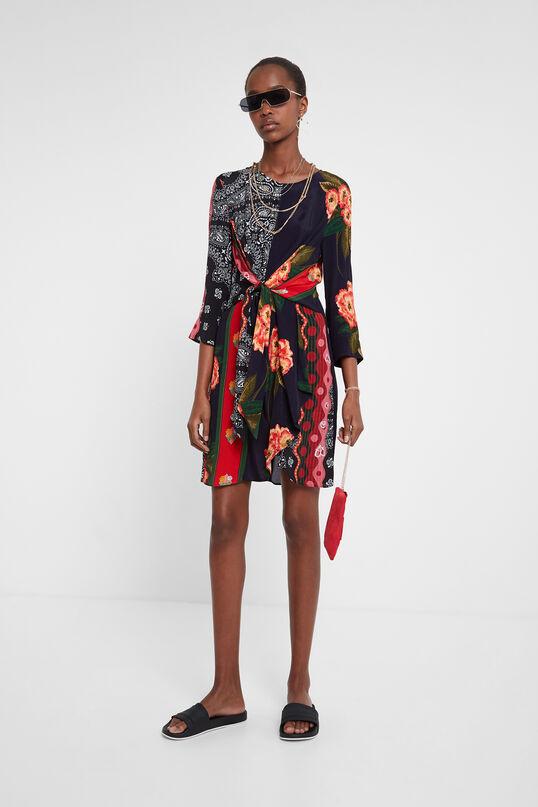 Vestido floral lazo Desigual