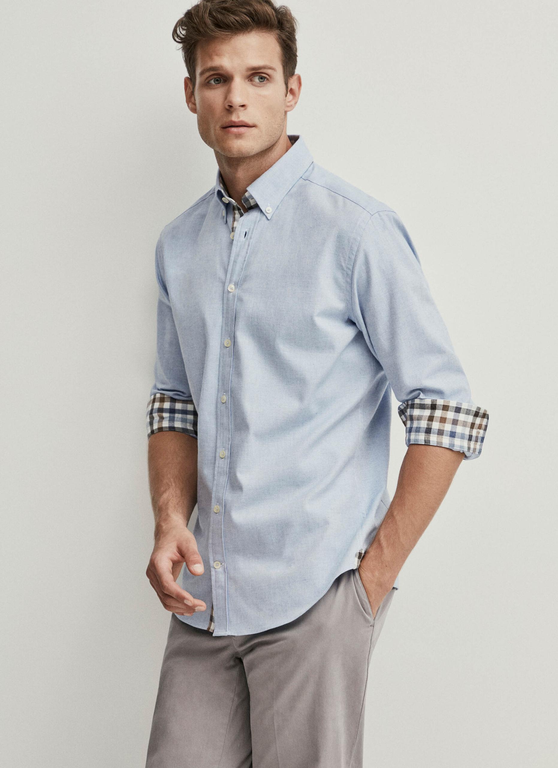 Camisa Azul Hackett