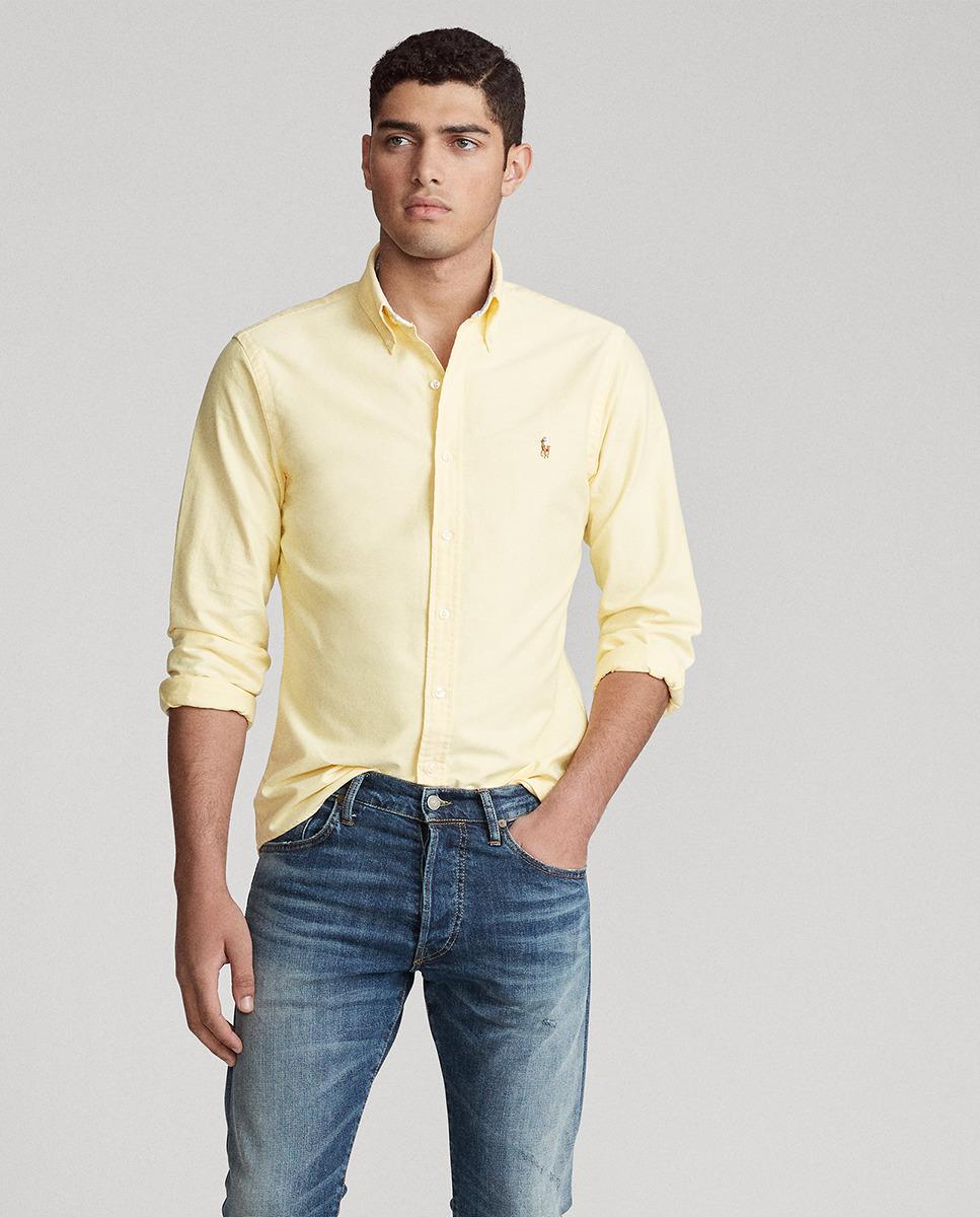 Camisa Lisa Amarilla Ralph Lauren