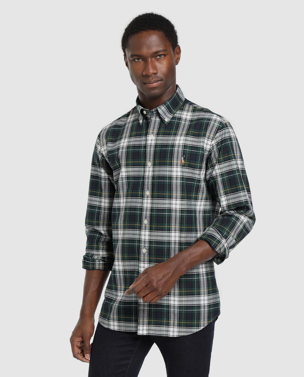 Camisa Ralph Lauren De Cuadros Verde
