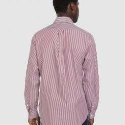 Camisa Ralph Lauren De Rayas Granate
