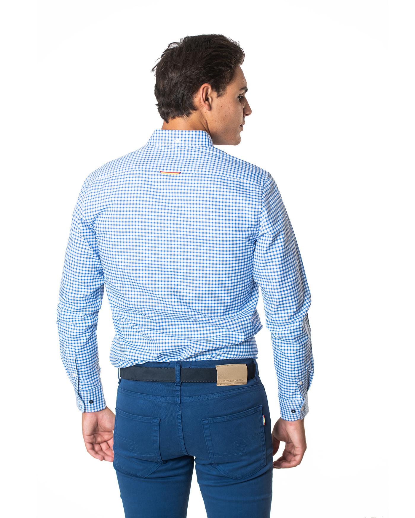 Camisa básica cuadros azules Spagnolo