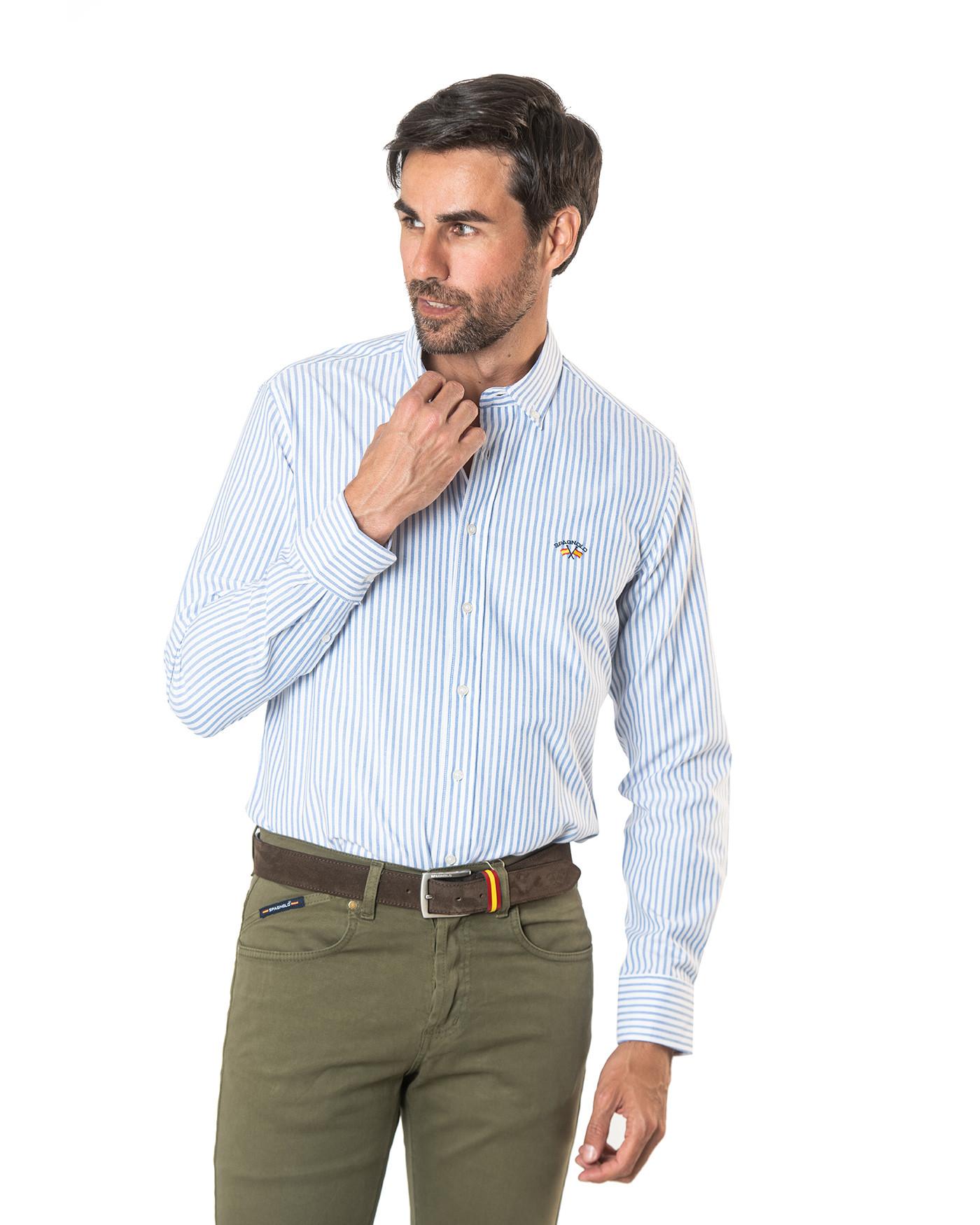 Camisa básica rayas azules Spagnolo