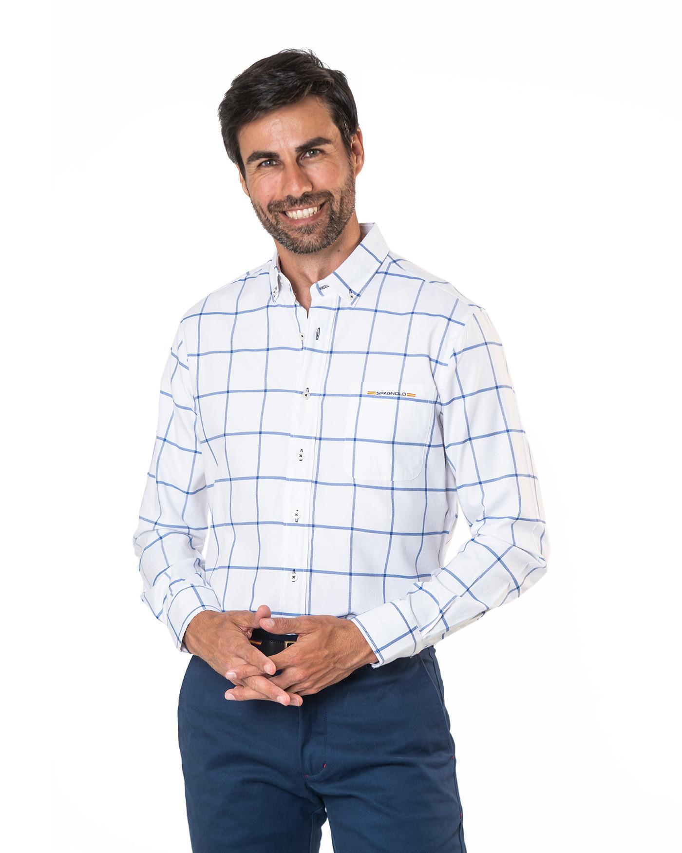Camisa cuello botón bolsillo Spagnolo