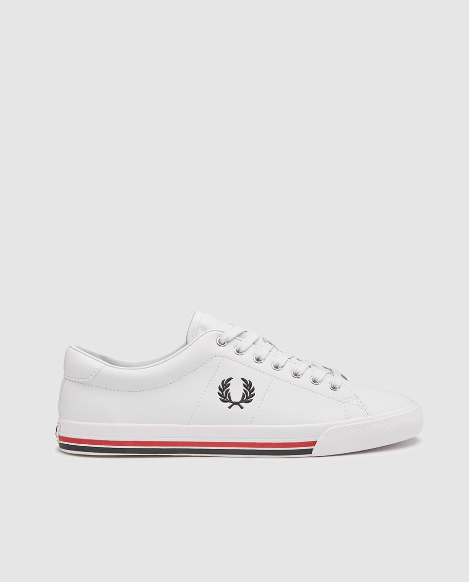 Zapatillas de piel Fred Perry blancas 1