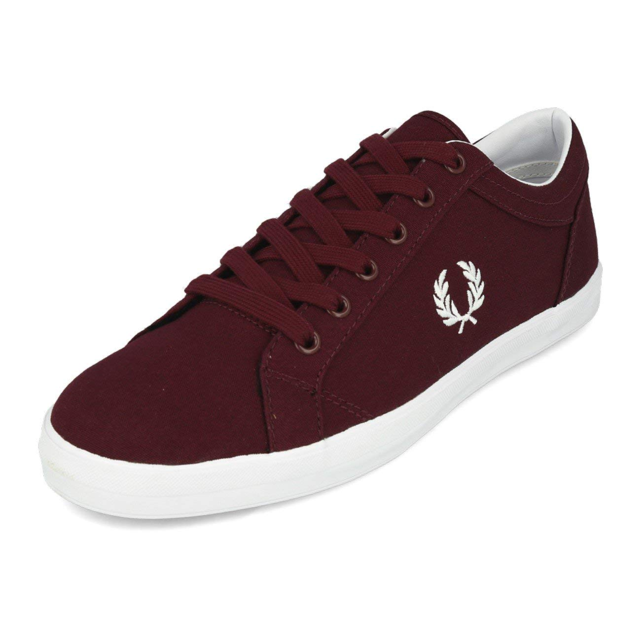 Zapatillas de lona Fred Perry granates
