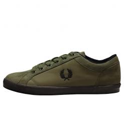 Zapatillas verdes nailon y microfibra Fred Perry