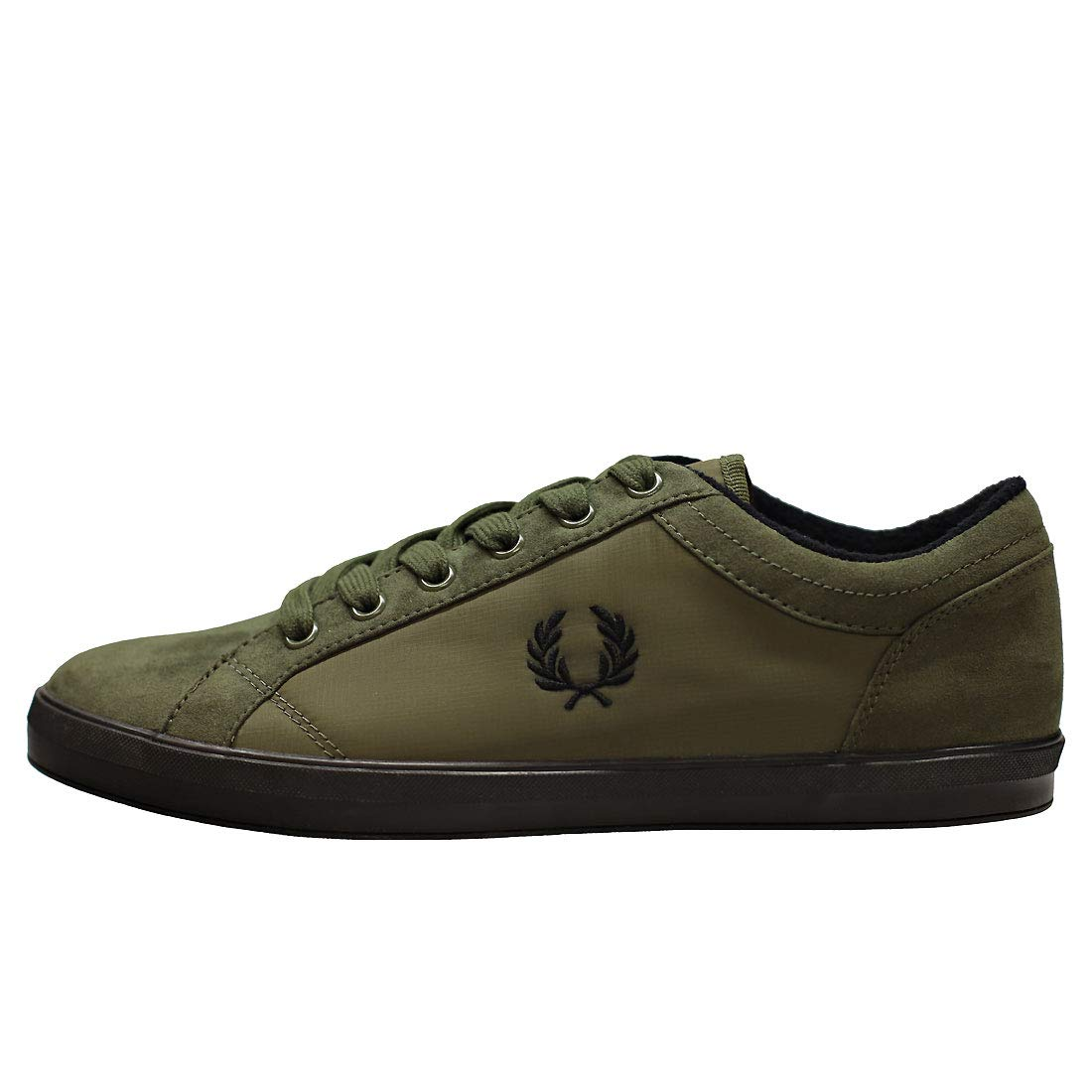 Zapatillas verdes nailon y microfibra Fred Perry