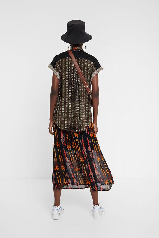 Camisa manga corta cenefa africana Desigual