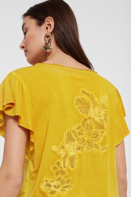 Camiseta floral devoré Desigual