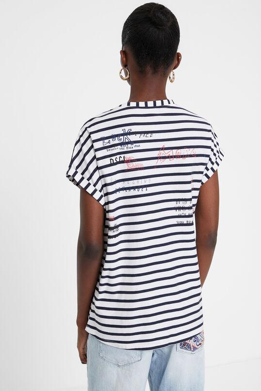 Camiseta marinera y floral Desigual