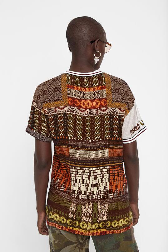 Camiseta media naranja Desigual