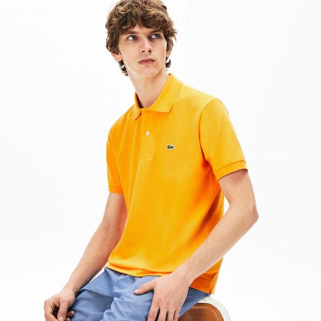 Polo Lacoste Naranja Claro