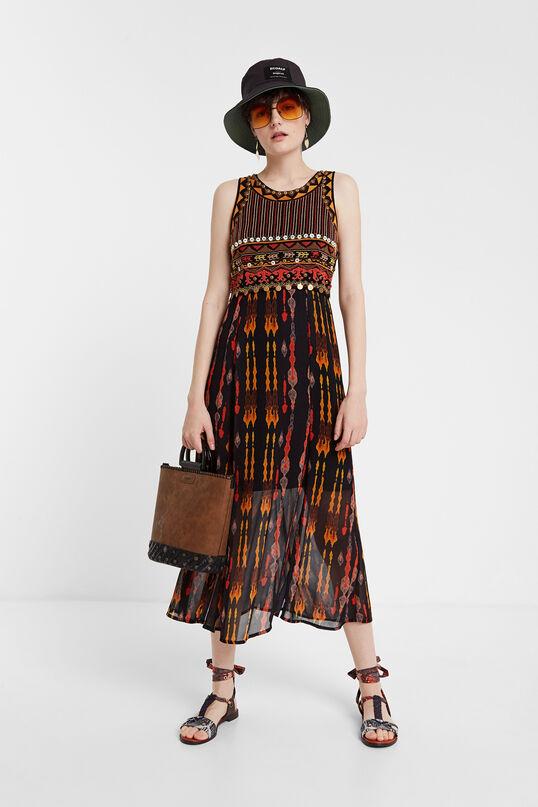 Vestido midi africano Desigual