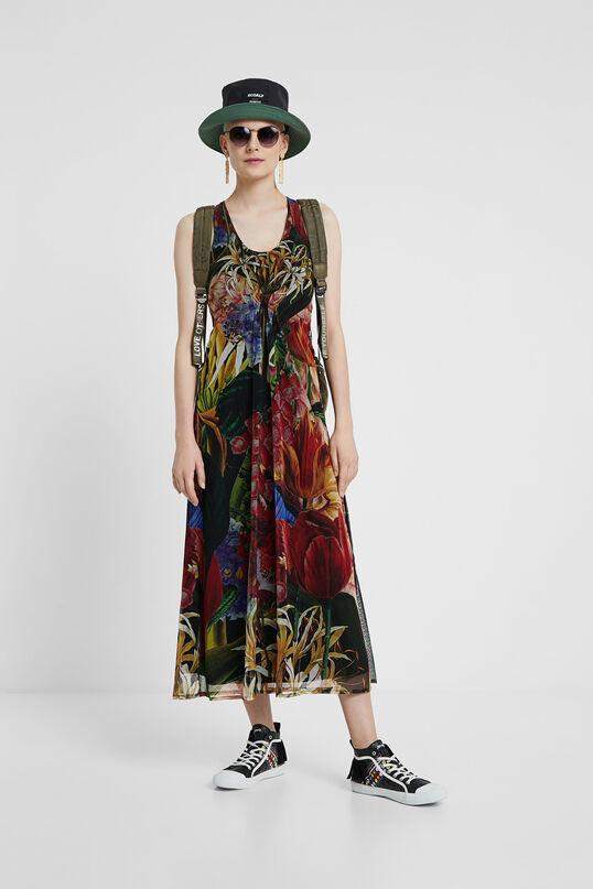 Vestido midi tropical Desigual