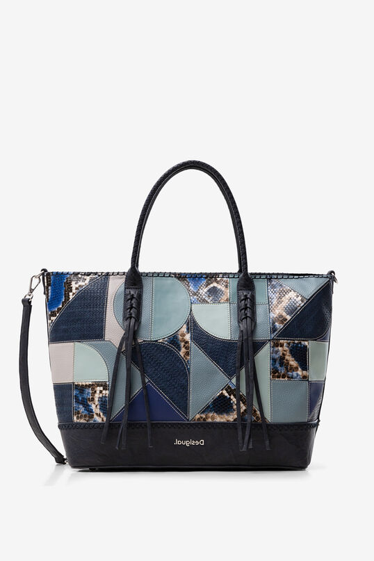Bolso shopping patch azul Desigual