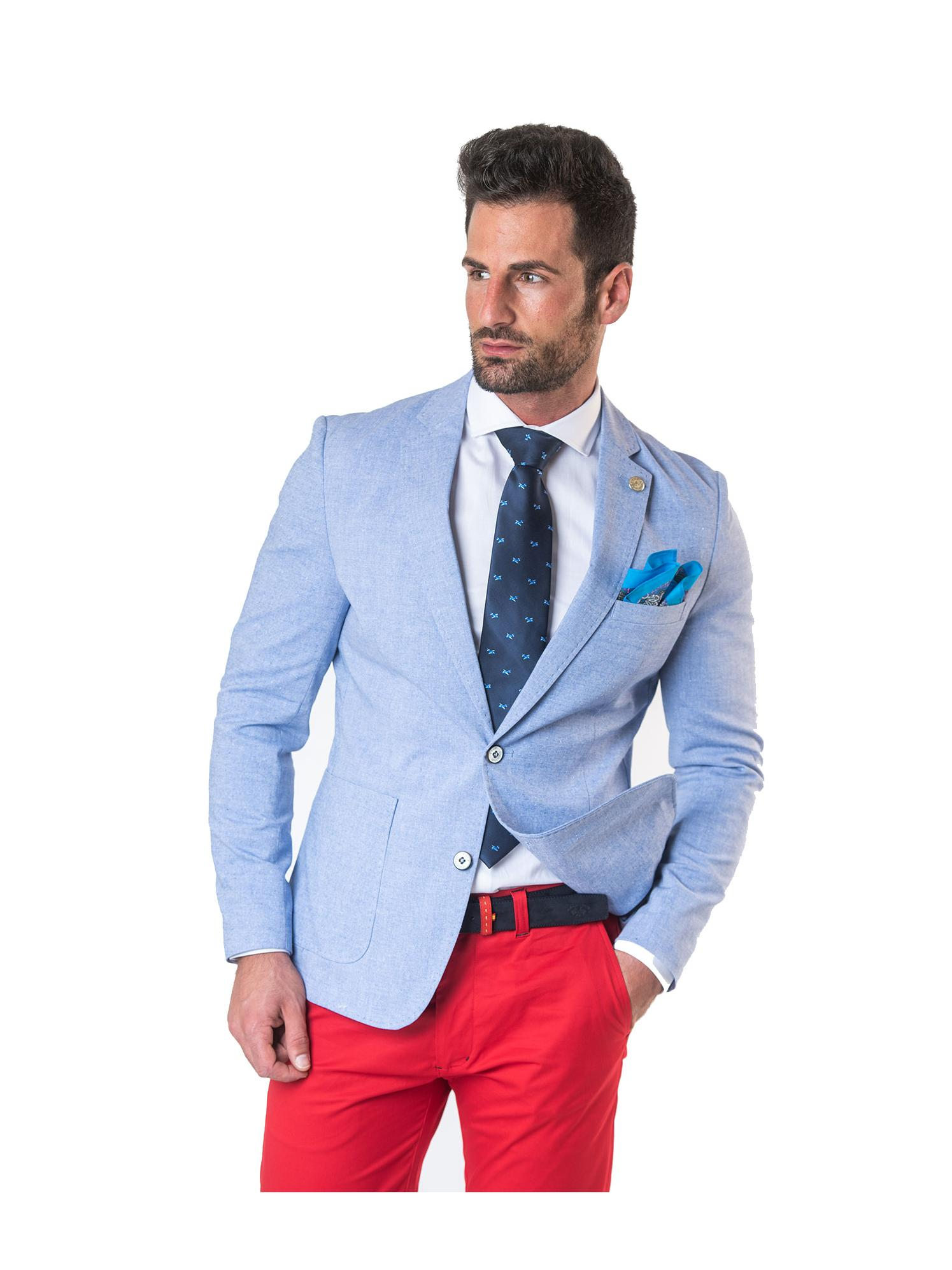 Americana lino azul Spagnolo