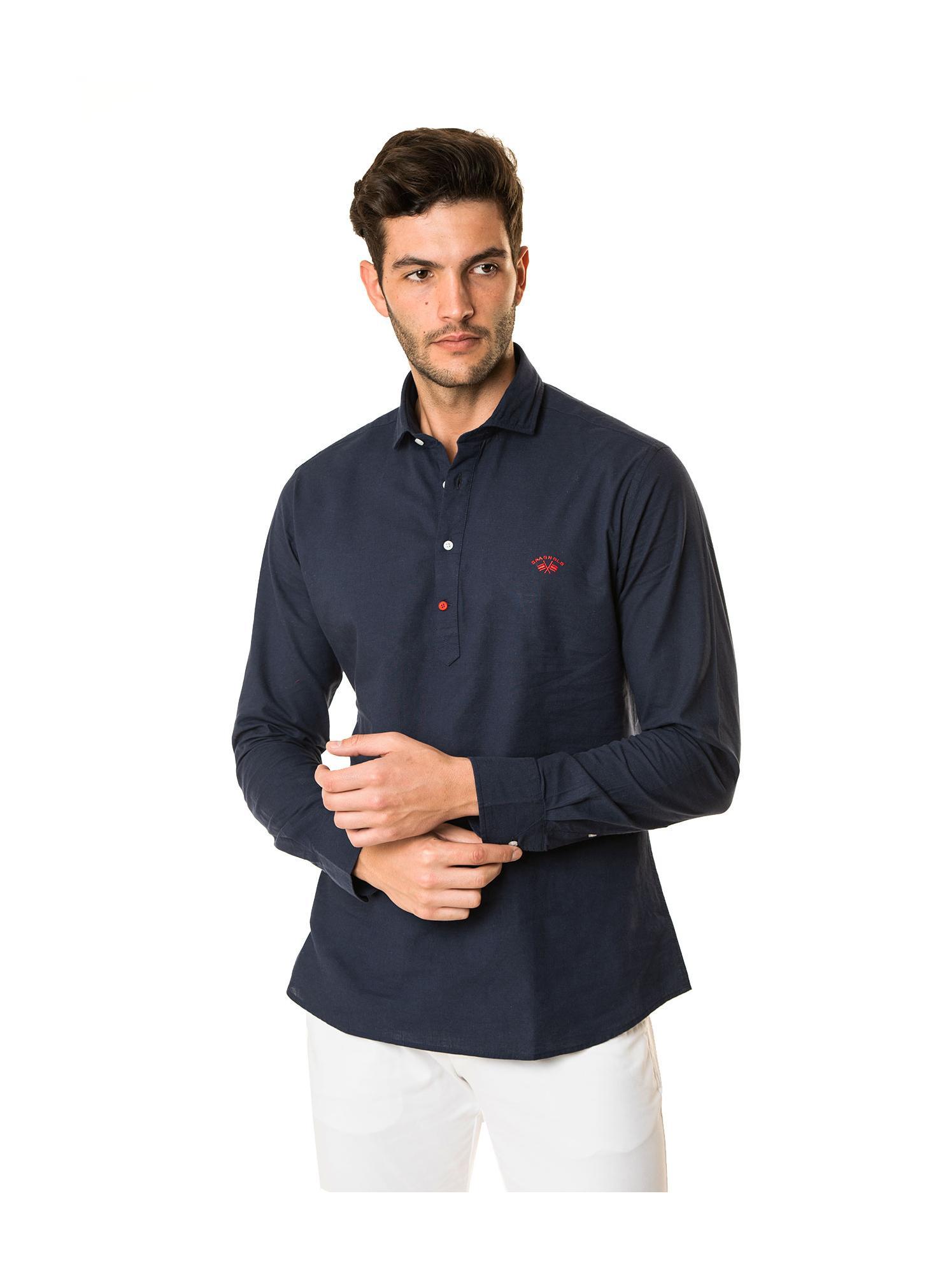 Camisa polera azul marino Spagnolo