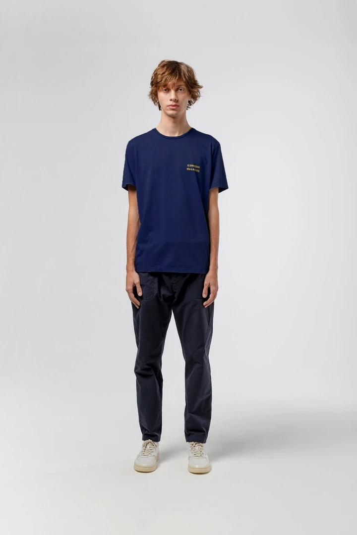 Camiseta azul vie simple handstand edmmond