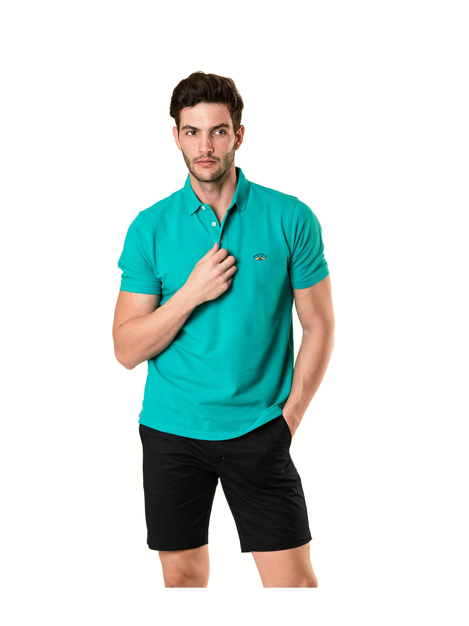 Polo básico verde azulado Spagnolo