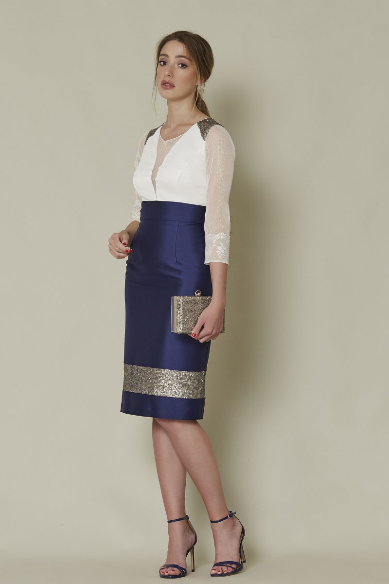 Vestido corto SARA RUIZ efecto dos piezas
