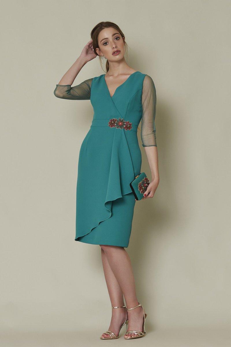 Vestido corto SARA RUIZ verde