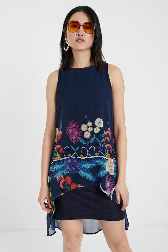 Vestido multicapa con estampado floral DESIGUAL
